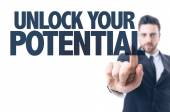 Text: Unlock Your Potential — Stock Photo