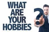 Text: What Are Your Hobbies? — Stock Photo