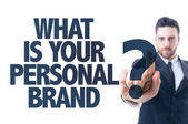 Text: What Is Your Personal Brand? — Stock fotografie