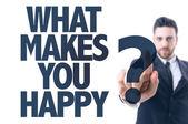 Texto: O que te faz feliz? — Fotografia Stock