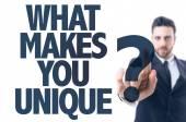 Text: What Makes You Unique? — Stock Photo