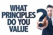 Text: What Principles Do You Value? — Stock Photo