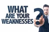 Text: What Are Your Weaknesses? — Stock Photo