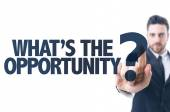 Text: What's the Opportunity? — Stock Photo