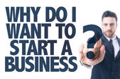 Text: Why Do I Want to Start a Business? — Stock Photo