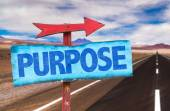 Text:Purpose on sign — Stock Photo