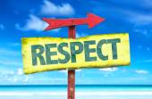 Text:Respect on sign — Stock Photo