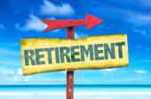 Text:Retirement on sign — Stock Photo