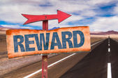 Text:Reward on sign — Stock Photo