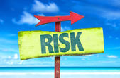 Text:Risk on sign — Stock Photo