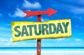 Text:Saturday on sign — Stock Photo