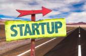 Text:Startup on sign — Stock Photo
