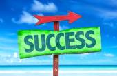 Text:Success on sign — Stock Photo