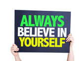 Always Believe in Yourself card — Stock Photo
