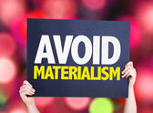 Avoid Materialism card — Stock Photo