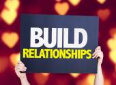 Build Relationships card — Stock Photo