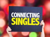 Connecting Singles card — Stock Photo