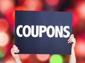 Coupons text card — Stock Photo