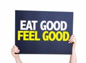 Eat Good Feel Free card — Stock Photo