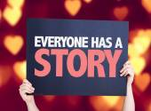 Everyone Has a Story card — Stock Photo
