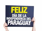 Happy Paraguay Independence Day card — Stock Photo