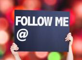 Follow Me with a copy space card — Stock Photo