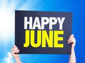 Happy June card — Stock Photo