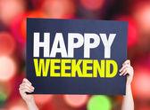 Happy Weekend card — Stock Photo