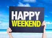 Happy Weekend card — Stock Photo