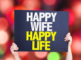 Happy Wife Happy Life card — Stock Photo