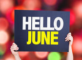 Hello June card — Stock Photo