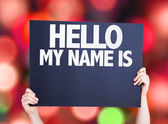 Hello My Name Is card — Stock Photo