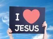 I Love Jesus card — Stock Photo