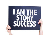 I Am the Story Success card — Stock Photo