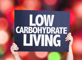 Low Carbohydrate Living card — Stock Photo