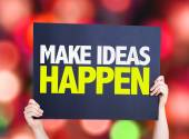 Make Ideas Happen card — Stock Photo