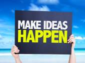 Make Ideas Happen card — Stock Photo