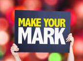 Make Your Mark card — Stock Photo