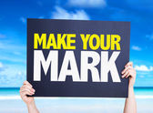 Make Your Mark card — Stock Photo