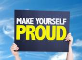 Make Yourself Proud card — Stock Photo