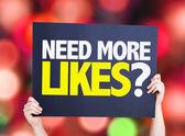 Need More Likes? card — Stock Photo