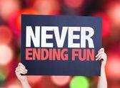 Never Ending Fun card — Stock Photo