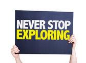 Never Stop Exploring card — Stock Photo