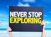 Never Stop Exploring card — Stock Photo