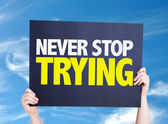 Never Stop Trying card — Stock Photo