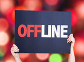 Offline text card — Stock Photo