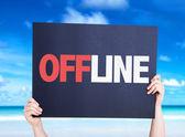 Offline text card — Stock Photo