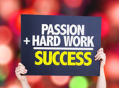 Passion and Hard Work is Success card — Stock Photo