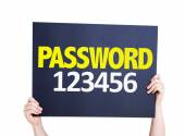 Password 123456 card — Stock Photo