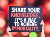 Share Your Knowledge card — Stock Photo